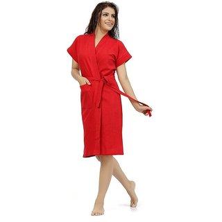 Be You Fashion Red Cotton Bathrobe