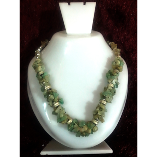 Diwali Special Sale ! Green Aventurine Chip Stone Necklace Chakra Healing Crystal Gemstone Jewelry