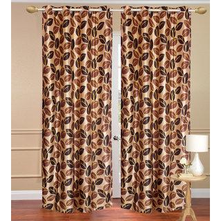 Pinat Path Yellow Door set of 2 pcs (4x7 feet) - Eyelet Polyester Curtain-Purav Light