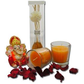 Giftcart-Candle And Idol Diwali Gift Combo