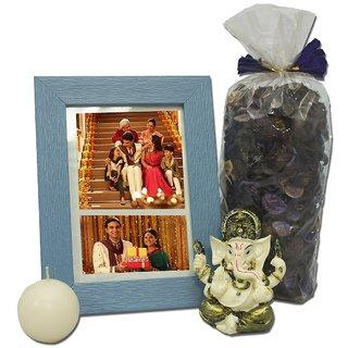 Giftcart- Photoframe  Ganesha Diwali Giftset