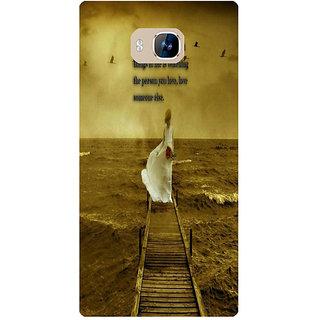 Amagav Printed Back Case Cover for Lyf Wind 2