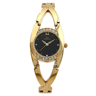 Lee Force Casual Golden Metal Strap Wrist Watch For Women