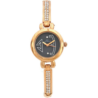 Lee Force Casual Rose Gold Metal Strap Wrist Watch For Women