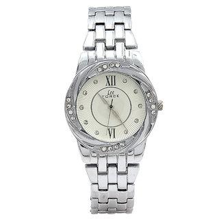 Lee Force Casualsilver Metal Strap Wrist Watch For Women
