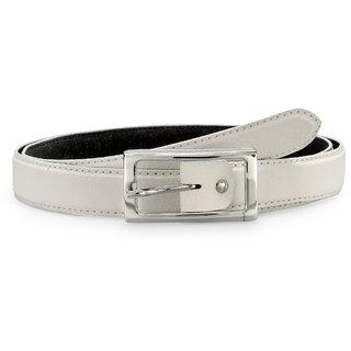 Arum Trendy White Belt For Women AFWB-005