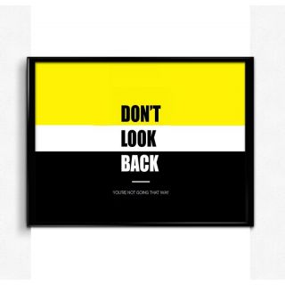 Bright Ideas Don\'t Look Back 12x18 Matte Poster,HD Printing [300 GSM Canvas Art,Rolled in Special Poster Tube]