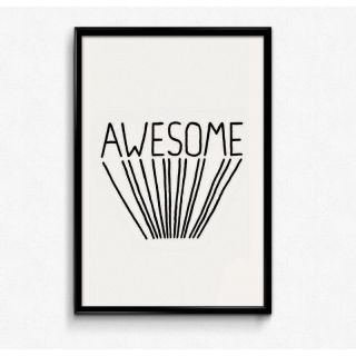 Bright Ideas Awesome Vibes 12x18 Matte Poster,HD Printing [300 GSM Canvas Art,Rolled in Special Poster Tube]