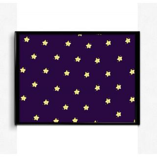 Bright Ideas Starry Pattern 12x18 Matte Poster,HD Printing [300 GSM Canvas Art,Rolled in Special Poster Tube]