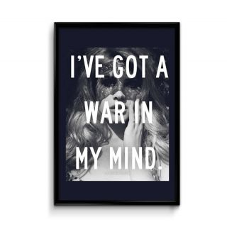 Design Lab War in My Mind 12x18 Matte Poster,HD Printing [300 GSM Canvas Art,Rolled in Special Poster Tube]
