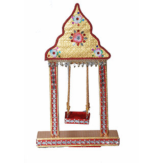 Lutis Jhula beautiful hand made Golden colour Wooden Swing