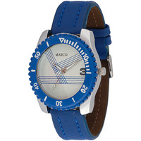 MARCO Analog Blue Leather Watch For Men