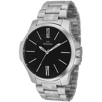 MARCO Analog Silver Leather Watch For Men