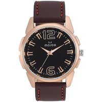 MARCO Analog Brown Leather Watch For Men - 99248673