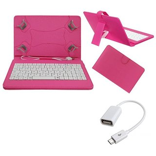 7inch Keyboard for Vox V105 Tablet - Pink with OTG Cable by Krishty Enterprises