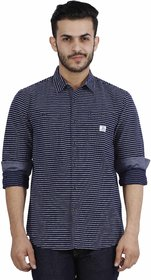 Lee Blue Slim Fit Full Sleeves Shirt For Men