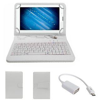 7inch Keyboard for Vox V105 Tablet - White with OTG Cable by Krishty Enterprises
