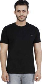Lee Black V-Neck Printed T-Shirt For Men