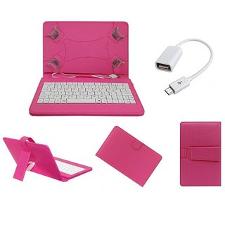 7inch Keyboard for Videocon Vt79C Tablet - Pink with OTG Cable by Krishty Enterprises