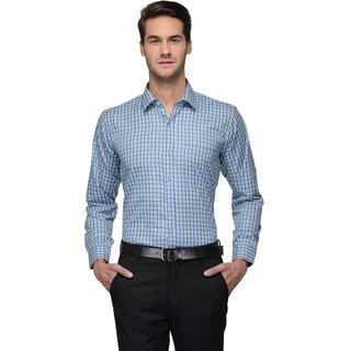 English Navy Green Slim Fit Full sleeves Formal Shirt for Men