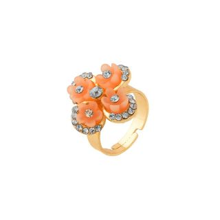 sanaa creations Floral Inspired Women Ring With CZ Stones
