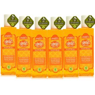 Khadi Vagad's  Sun-Protection Sunscreen Face Wash ( 200ml x 6 )