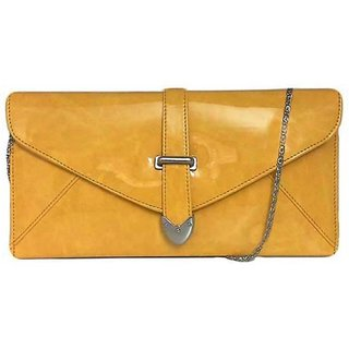 Merastore Women Casual, Party Yellow  Clutch