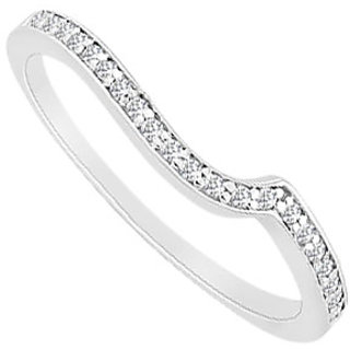 Handsome Diamond Wedding Band With 14K White Gold Design 1