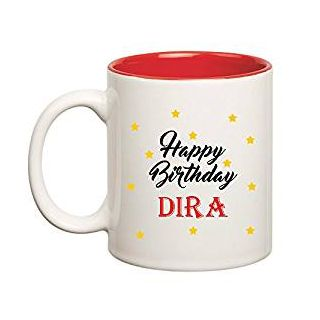 Huppme Happy Birthday Dira Inner Red Mug