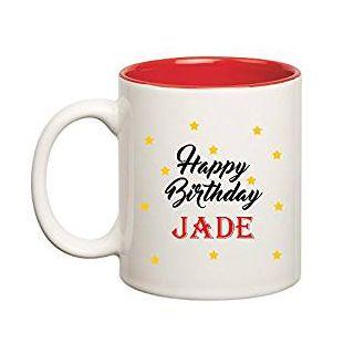 Huppme Happy Birthday Jade Inner Red Mug