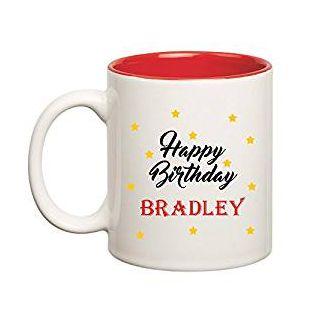 Huppme Happy Birthday Bradley Inner Red Mug