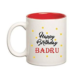 Huppme Happy Birthday Badru Inner Red Mug