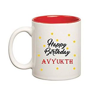 Huppme Happy Birthday Avyukth Inner Red Mug