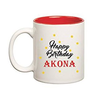 Huppme Happy Birthday Akona Inner Red Mug