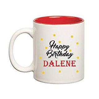 Huppme Happy Birthday Dalene Inner Red Mug