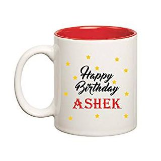 Huppme Happy Birthday Ashek Inner Red Mug