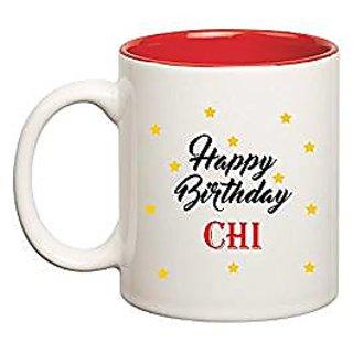 Huppme Happy Birthday Chi Inner Red Mug