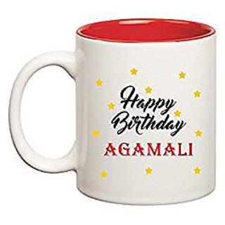 Huppme Happy Birthday Agamali Inner Red Mug