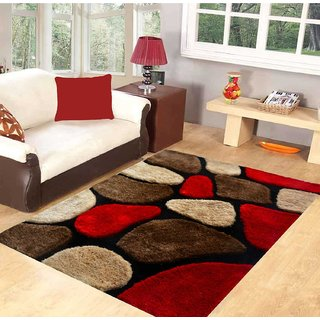 Hand Tufted Red Stone Carpet 3x5 Feet