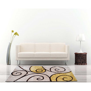 Multicolor Shaggy Polyester Carpet 3x5 Feet