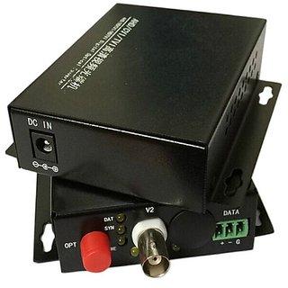 HD CVI / AHD 1 Channel Video optical Media Converter Transmitter Receiver