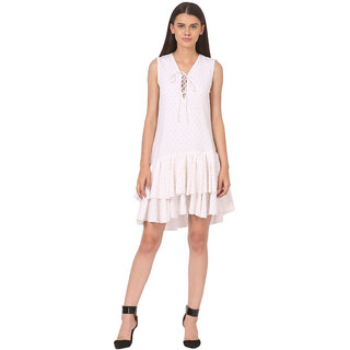 printed Polyester crepe with Lining Dress