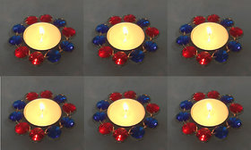 Rastogi Handicrafts Unscented Tea Light Decorative Diya Deepak Candle Diwali Light candle Set of Six