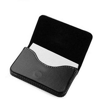 AV Enterprises Black Leather Card Holder