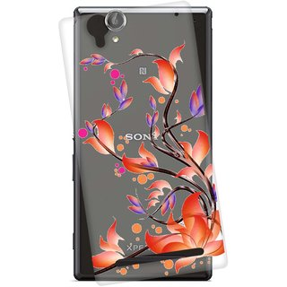 Snooky Printed transparent Silicone Back Case Cover For Sony Xperia T2 Ultra