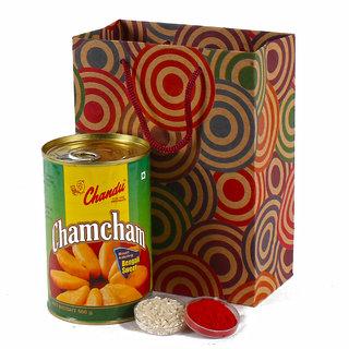 Bhaidooj Combo of Chum Chum Sweets with Tikka