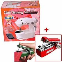 Mini Sewing Machine + Mini Hand Sewing Machine