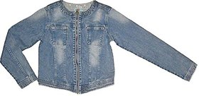 Girls Lycra Denim Jacket With Two Front Pocket