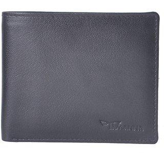 Tamanna Men Black Genuine Leather Wallet  (3 Card Slots)