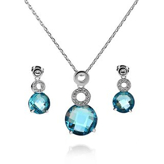 Merastore Alloy Jewel Set (Blue)